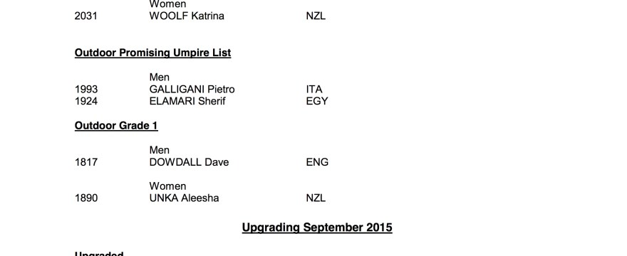 August and September FIH Upgrades