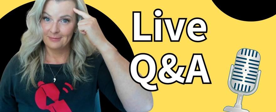 Live Q&A #WhatUpWednesday Ep. 38
