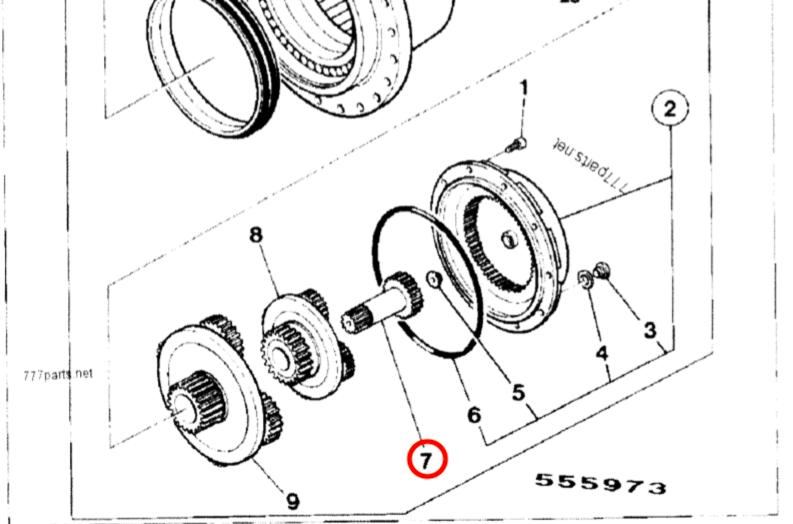 05/903804- Wałek zwolnicy, hydromotoru JCB JS200/JS220