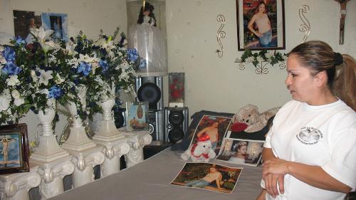 Cazarez at her murdered daughter Berenice's bedroom.