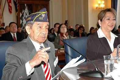 Filipino veteran Franco Arcebal testifies before Congress - Photo: ACFV.