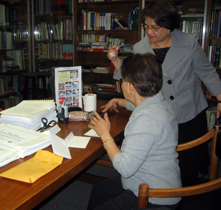 Cultural Officer Marievic Dimaculangan assists voter -  Photo: Cristina DC Pastor