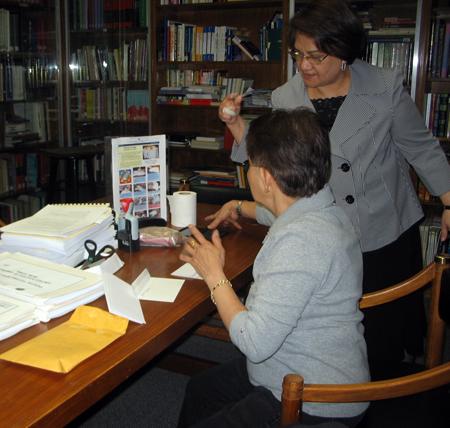 Cultural Officer Marievic Dimaculangan assists voter -  Photo: Cristina DC Pastor