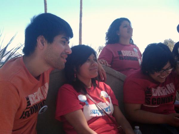 Dream Act Protesters Mohamed, Lizbeth, Tania and Shaira in Tucson, AZ - Photo: Valeria Fernandez