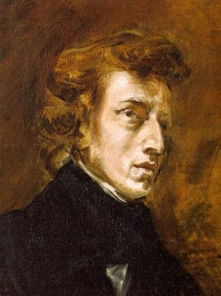 A portrait of Frederic Chopin by Delacroix