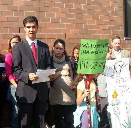 City Council member Ydanis Rodriguez with Elibany Valerio (Photo: Monika Fabian)