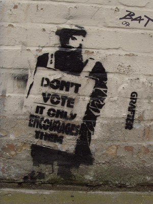 Don't Vote Graffiti