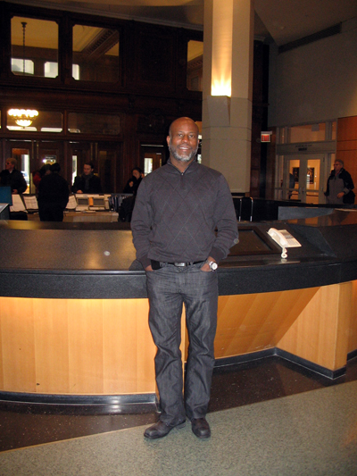 Garry Pierre-Pierre, Editor and Publisher of The Haitian Times, at the CUNY Journalism School