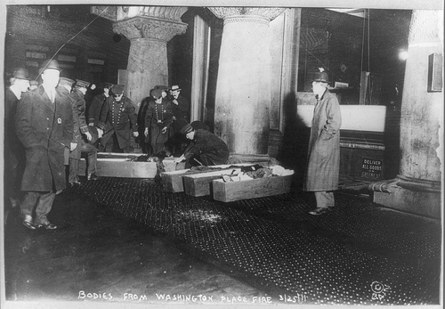 Bodies from the Triangle Shirtwaist Fire in 1911 (Photo: Library of Congress)