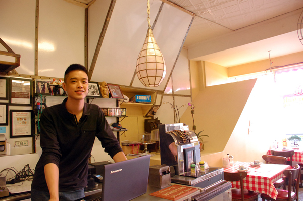 Wilson Tang, the new owner of Nom Wah at his shop