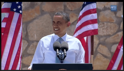 President Obama addressing El Paso in his immigration speech on May 10, 2011