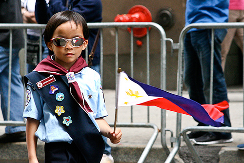 A young boy at the Philippines Parade