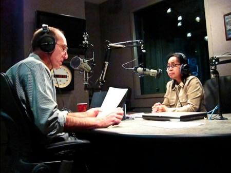 Fi2W Executive Producer John Rudolph interviewing reporter Cristina Pastor
