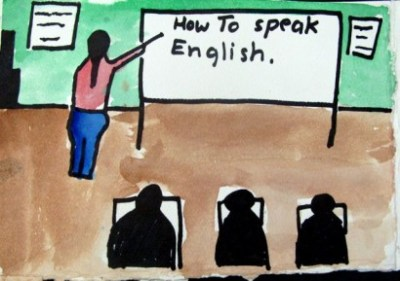 An immigrant student drew this picture for the Story Studio project