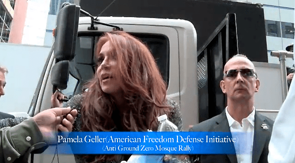 Pamela Geller, protesting against the Park51 project on the ten year anniversary of 9/11