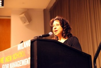 Maria Hinojosa speaking at the Fi2W forum on immigrant detention