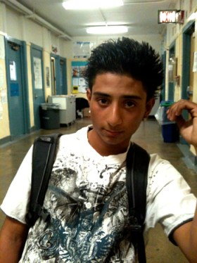 Julio Jaime, 17, at Manhattan International High School