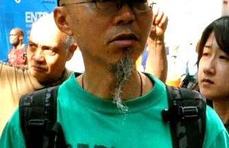 Peter Lew at Occupy Wall Street (Photo: Elton Lugay)