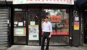 Nariv Shah outside of his restaurant (Photo: Sarah Kate Kramer)