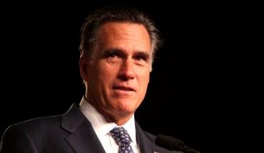 Republican contender Mitt Romney