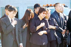 The grieving Chen family