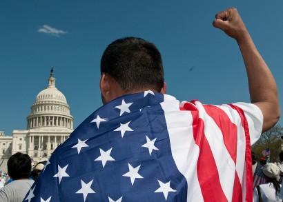 Immigration reform rally in Washington DC. (Photo: Flickr/SEIU International)