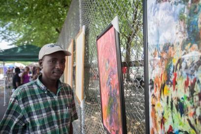 Mauritanian artist Djibril Ngawa Ba (Photo: Aaron Leaf)