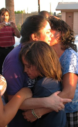 Katherine Figueroa's story is a story behind one of the most frequent type of breaking news in the Phoenix area: another sweep, another immigration raid in Maricopa County in 2009. (Photo: Valeria Fernández)