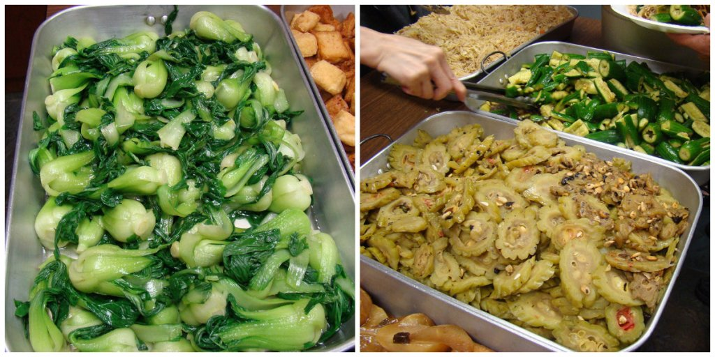 Vegetable dishes at Buddhist temple - Photo by Ramaa Raghavan