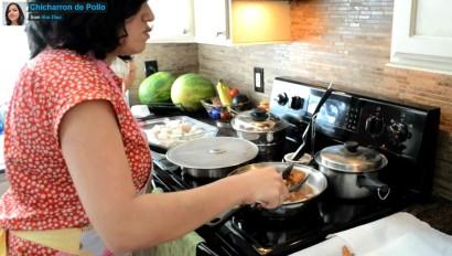von diaz cooks chicharron de pollo