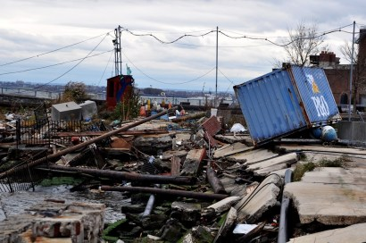 Red Hook waterfront post Hurricane Sandy. Photo by Michael Fleshman, via Flickr Creative Content