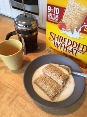 Shredded Wheat and Coffee