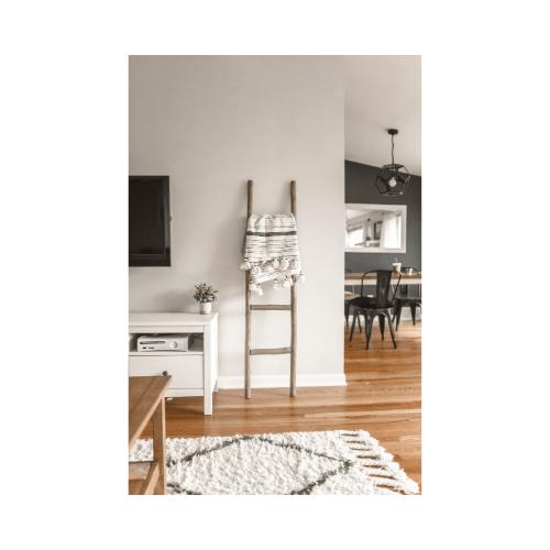 uncluttered corner of living room