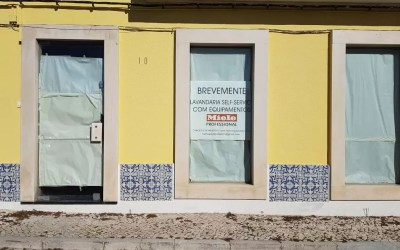 Nova Lavandaria Self Service em Alcochete