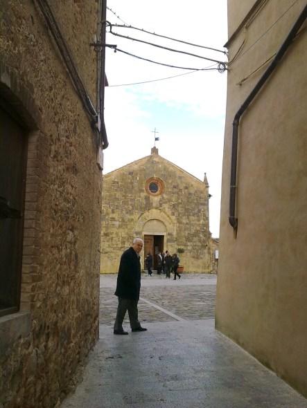 Winter atmosphere in Monteriggioni