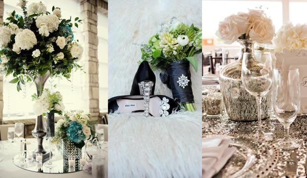 Gama de colores para la decoracin de bodas Invierno 2013