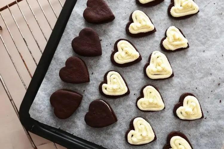Hjärtkakor med vanilj