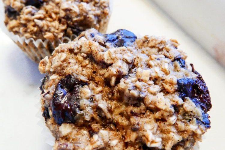Muffins med banan och choklad