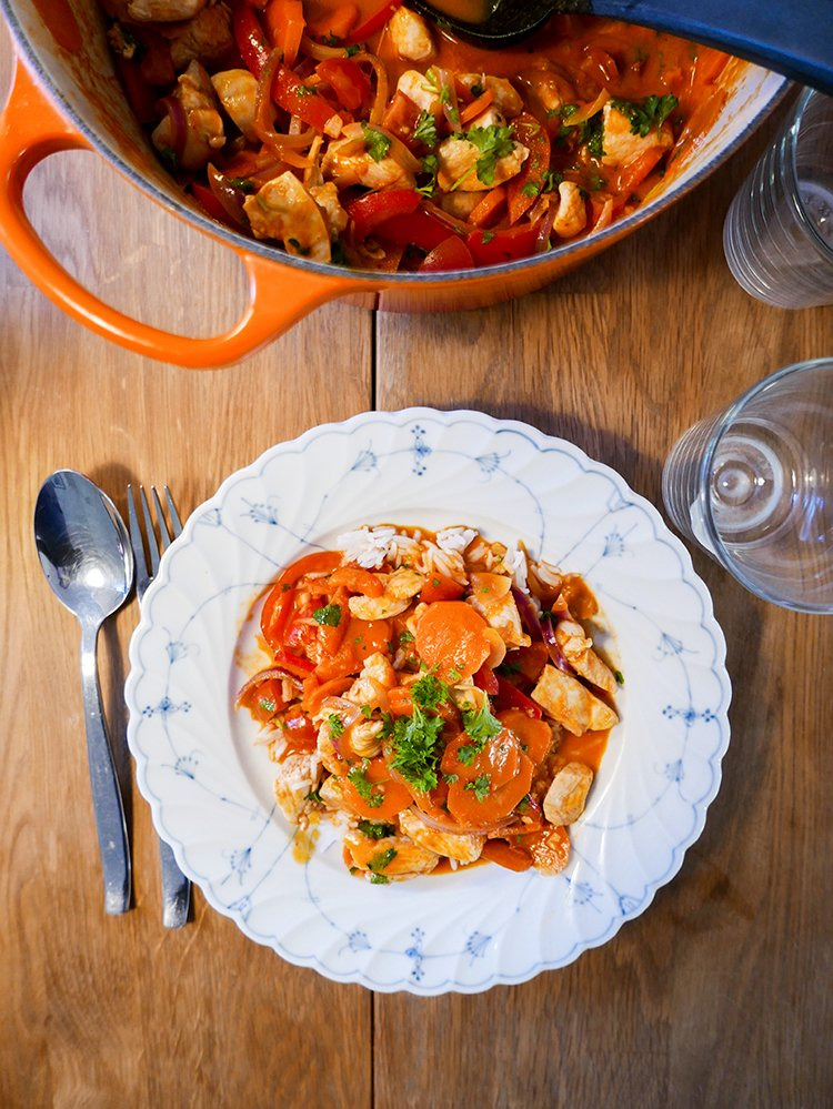 Kyckling red curry