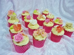 Christening Flower Cupcakes
