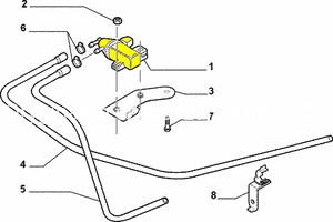 Filtr powietrza wkład Fiat Croma silnik benzyna 1,8 / 2,2