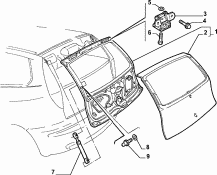 Pokrywa bagażnika Fiat Punto nuova 188-przed liftingiem