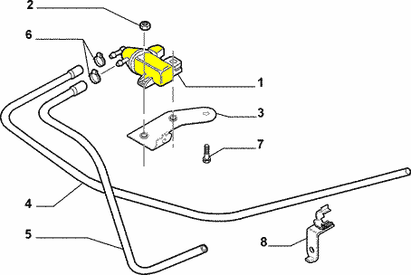 ELEKTROZAWÓR STEROWANIA TURBINY FIAT GRANDE PUNTO 1.3; 1.9
