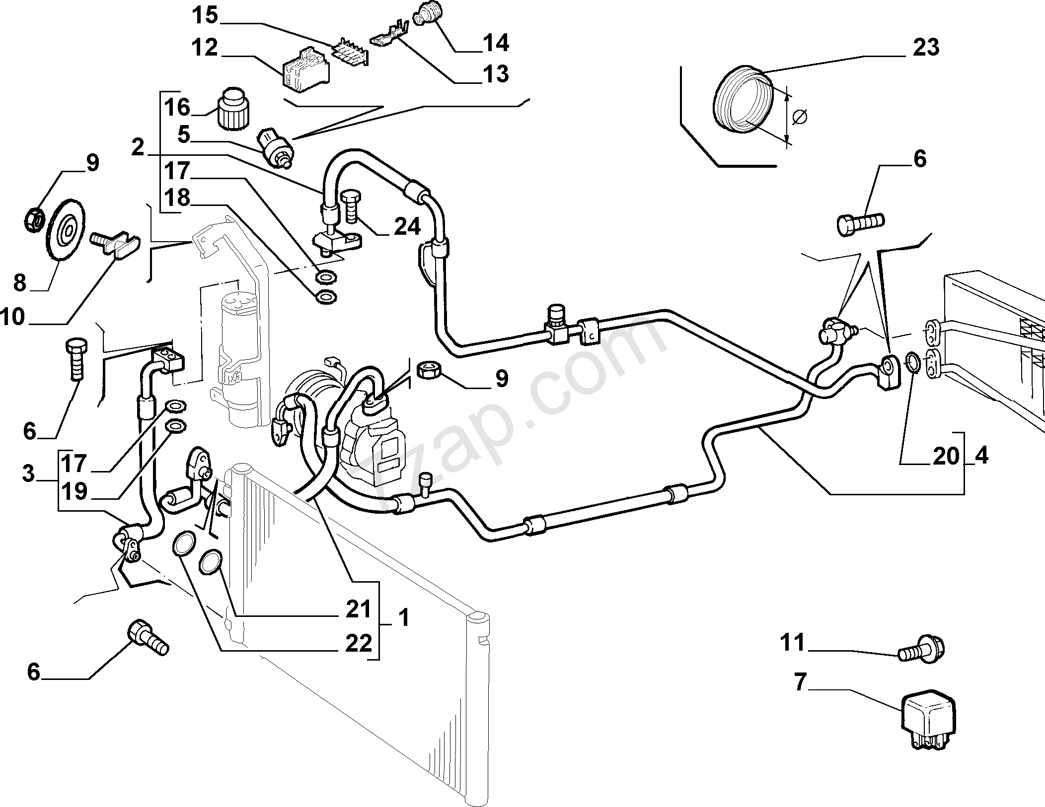 Fiat Punto Hose Diagram. Fiat. Auto Parts Catalog And Diagram