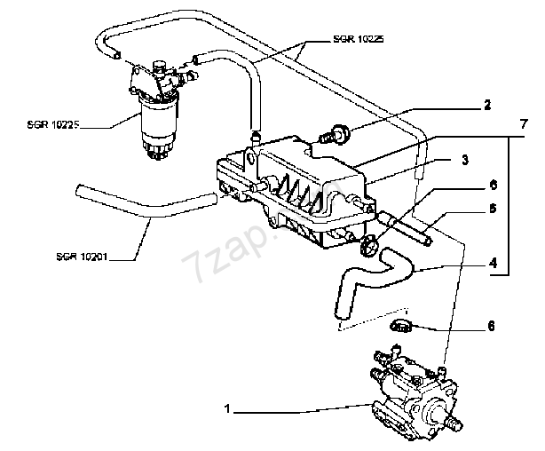 FUEL SUPPLY AND INJECTION FIAT STILO F.L.L. 2003 (2003-2007)