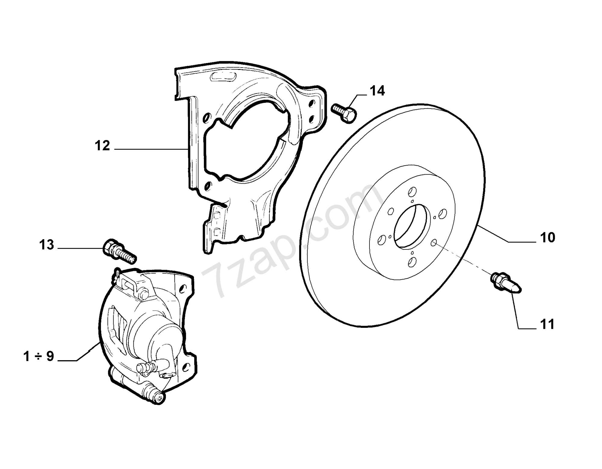 hight resolution of front wheel brakes fiat punto fl u002703 2003 2010 mix fiat brakes diagram