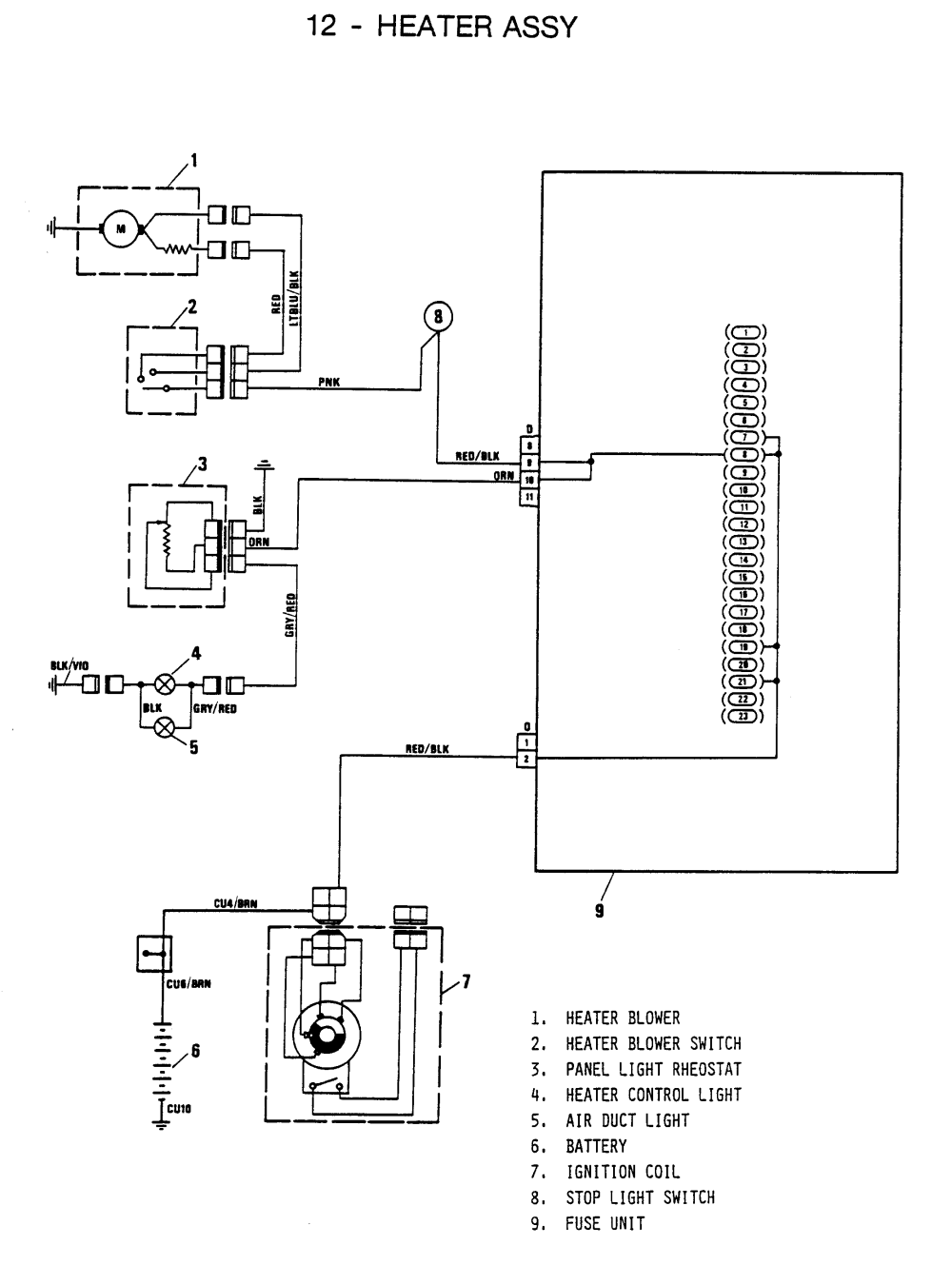 medium resolution of 1973 fiat 1300 wiring diagram