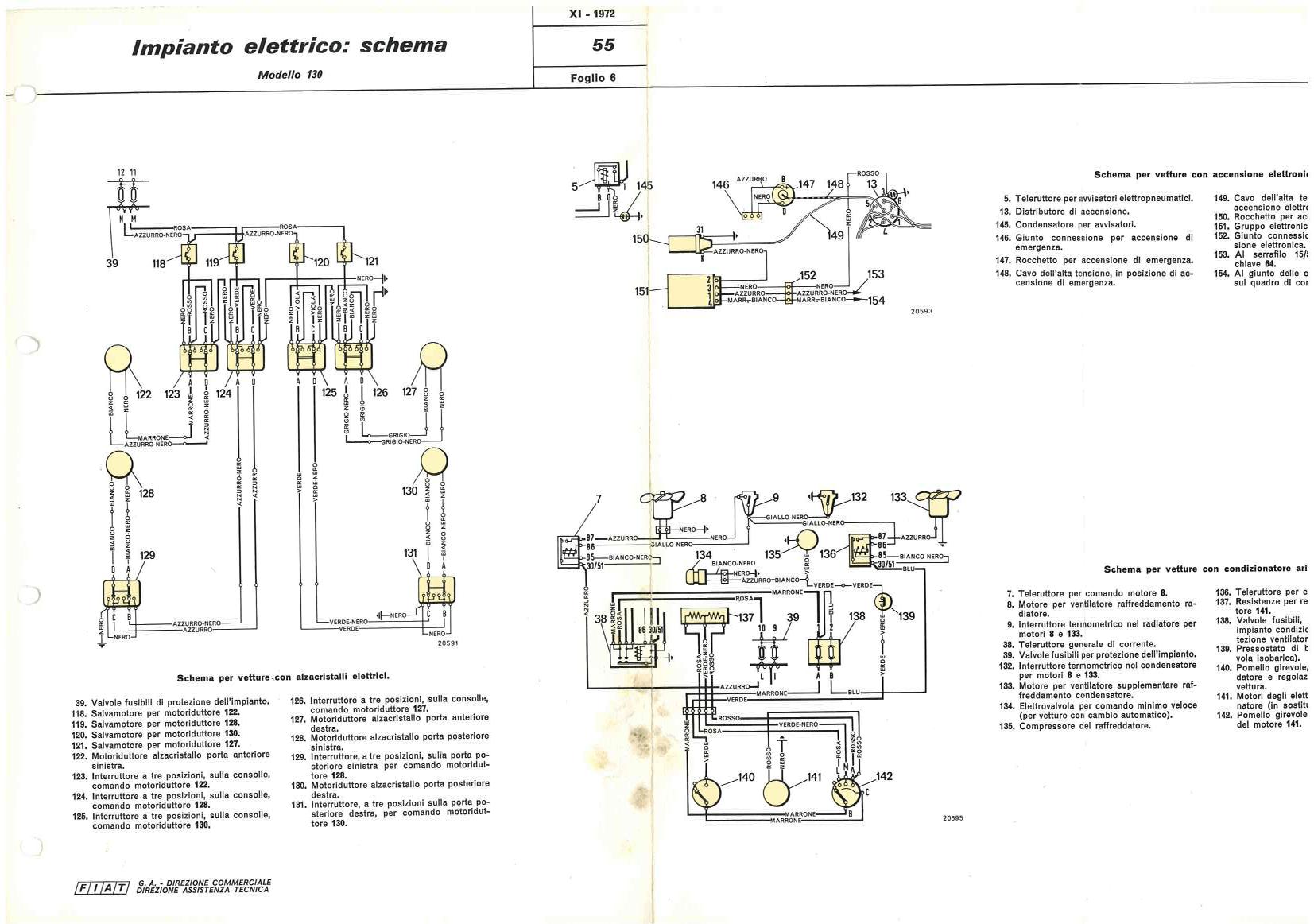 hight resolution of electrical system wiring diagram de nederlandse fiat 130 website electrical system fiat 130