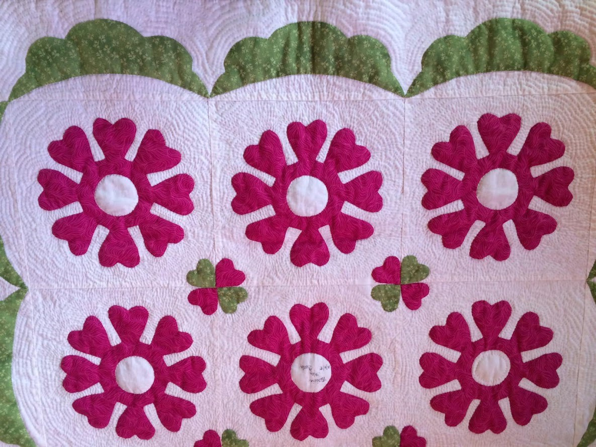 heartsong applique wreath quilt