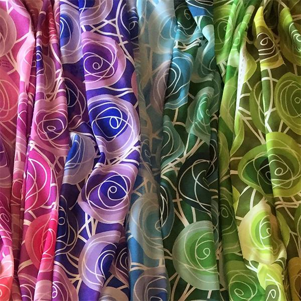 golden rule golden ratio rose bud scarves by Renne Emiko Brock